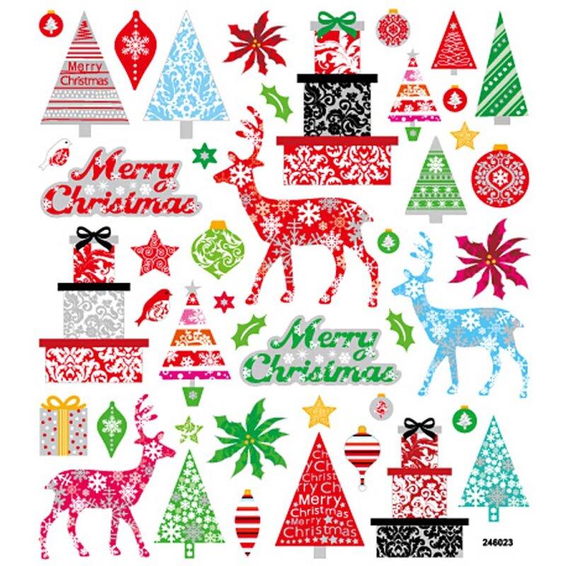 Frohe Weihnachten Glitzer.Fancy Glitzer Sticker Blatt 15x16 5 Cm Frohe Weihnachten 1bl